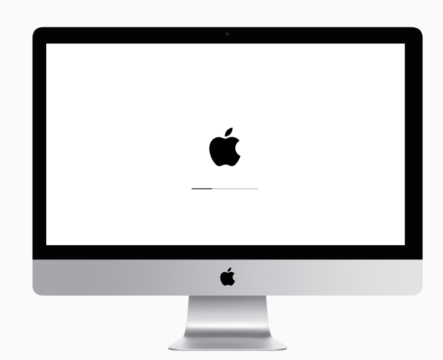 imac stuck on apple logo